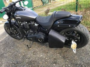 Sacoches Myleatherbikes Softail Fat bob (8)